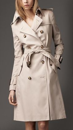Burberry - LONG COTTON BLEND HERITAGE TRENCH COAT