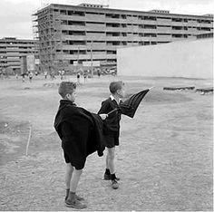 Brasília na construção -década de 60'. Foto Scheier