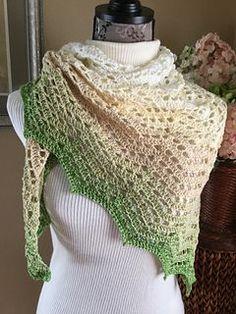 Ravelry Saffron Shawl crochet pattern