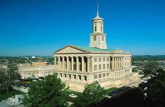 tennessee capital building in nashville, tenn - william strickland, architect - greek revival - 1895