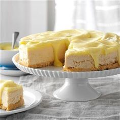 "Lemon Shortbread Cheesecake Recipe -My friends and family call me the ""Mad Baker"" because I love to make all kinds of creative desserts. This one uses two types of cookies: Lemonades for the filling and Shortbreads for the crust. —Rosalia Roger, Lincoln, Nebraska"
