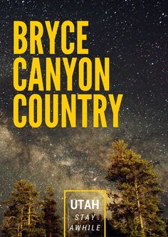 Stargazing and other things to do in Bryce Canyon Country - part of southern Utah with fantastic scenery and the great outdoors.  Get tips in my guide to stay awhile at thegirlandglobe.c...   #travel #utah #findyourpark #nps #nps100 #brycecanyon