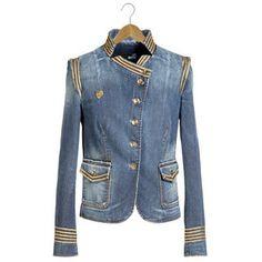 Blazer Women - Jackets Women on Moschino Online Store Military Style Coats, Military Jacket, Blazers For Women, Jackets For Women, Military Fashion, Summer Wardrobe, Moschino, Luxury Fashion, Spring Summer