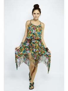 Vestido com Estampa Digital Inspirado Millefiori ♥