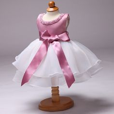 c1d9c1b50b5ce7 US $8.26 41% OFF 1 jaar Peuter Meisje Doop Jurk Meisje Verjaardag Jurken  Voor Meisjes Kids Wedding Party Wear Pasgeboren Baby Doopkleedjes in 1 jaar  Peuter ...