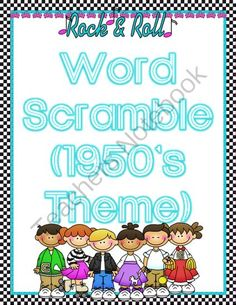 Word Scramble (1950s Theme) from Rockin' Lessons on TeachersNotebook.com -  (3 pages)  - Welcome to the 1950's! This is a 20 question unscramble fun sheet to follow a 1950's unit.
