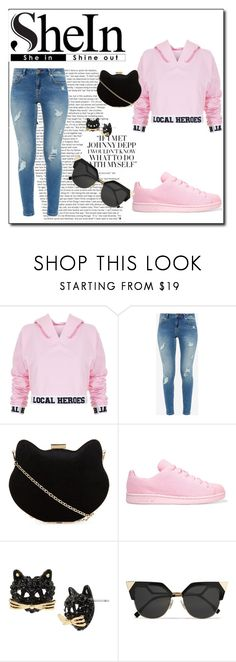 """""""Sem título #3"""" by letybaby on Polyvore featuring moda, Local Heroes, Ted Baker, New Look, adidas Originals, Betsey Johnson e Fendi"""