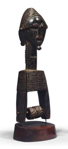 POULIE BAOULE Art Africain, Ivoire, Buddha, Statue, Headdress, Sculptures, Sculpture