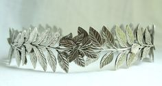ATHENA Grecian Leaf Headpiece in Silver by PompAndPlumage on Etsy