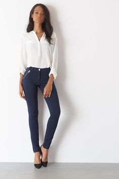 Kate Skinny Knit Pant With Zips