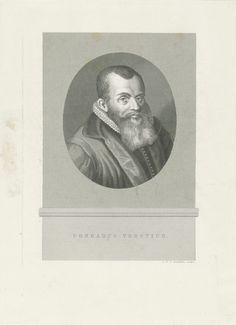 Portret van Conradus Vorstius, Jan Frederik Christiaan Reckleben, 1855 - 1857