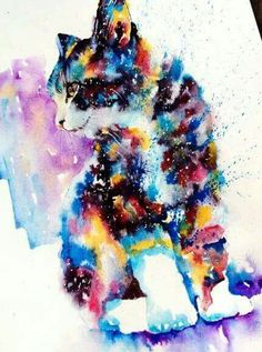 """Watercolor paintings found in an instagram page called """"Liviing"""" Find more at : www.facebook.com/Iraq.Thinking/"""