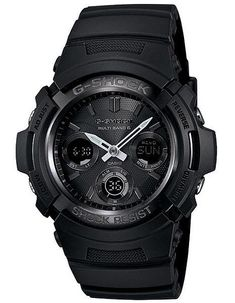 This new and improved Casio watch features an all-black design with a unique hand adjustment capability that allows the user to shift the hands out of the way so the digital window can be viewed easie