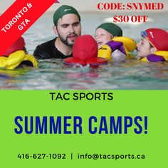☼ TORONTO/GTA Summer Camps! $30 OFF = SNYMED code.  CALL: 416-627-1092 INFO: info@tacsports.ca   https://www.snymed.com/2018/05/summer-camp-in-toronto-gta-tac-sports.html  #Toronto #GTA #Vaughan #Thornhill #RichmondHill #Markham