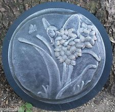 plastic fairy stepping stone mold concrete plaster casting garden mould