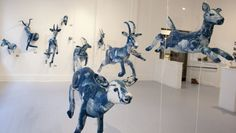 Tasha Lewis /cyanotype sculptures