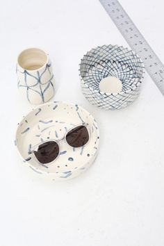beautiful hand-painted pottery #gift