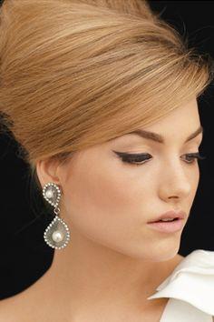 simply bridal makeup :). And love this reddish blonde hair color