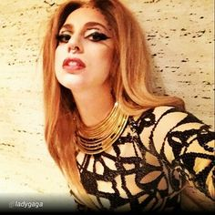 """Wearing BISJOUX necklace @ladygaga """"Donatella!! Get the marlboro reds and pink champagne. #artraveMilan wiped me out."""""""