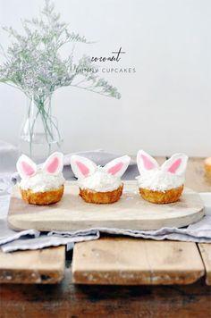 coconut bunny cupcakes