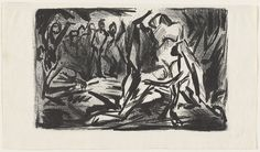 Ritual Scene - 1937 - Lithograph - 7 5/16 X 11 5/16 - Museum of Modern Art New York which has dozens of additional drawings by Pollock