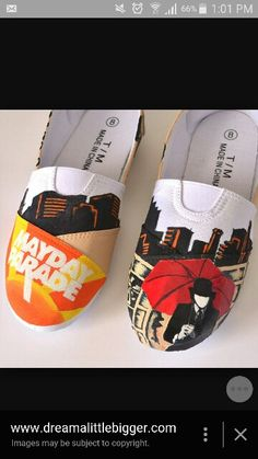 I have to make these. Need white shoes and shoe paint ASAP. Mayday Parade love always.