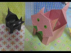 478.강아지상자접기.오월의장미.origami.종이접기 - YouTube