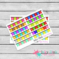 New to InkyDinkPrinting on Etsy: 12 Weekend Banner Half Sheet Planner Stickers Erin Condren Happy Planner Plum Planner Sticker Sampler EC Life Planner Limelife HS-04 (2.75 USD)