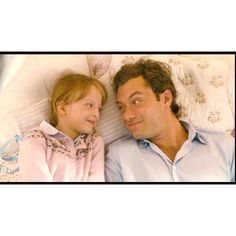 Jude Law and Miffy Englefield in The Holiday Movie ❤ liked on Polyvore featuring home, home decor and movie home decor