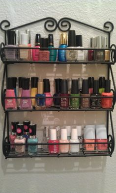 Spice rack idea and/or perfume holder (just taller gaps)...have our welder make one