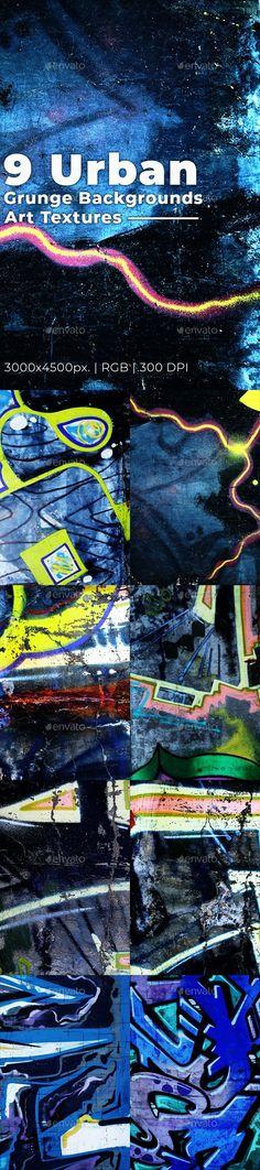 Grunge Urban Backgrounds Art Textures by djjeep   GraphicRiver Texture Design, Texture Art, Graffiti, Grunge, Print Ads, Urban Art, Print Design, Cards, Backgrounds