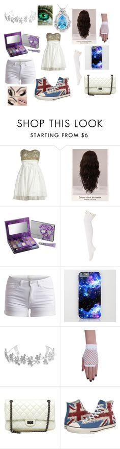 """The Olympians' Council Room"" by olive-viv ❤ liked on Polyvore featuring Off-White, WigYouUp, Urban Decay, Pieces, Bling Jewelry, Chanel and Converse"