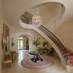 William T Baker Houses - traditional - staircase - atlanta - William T Baker || Walls...ONLY the walls.....