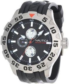 a7aedadeaf Relógio Nautica Men s N15564G BFD 100 Multifunction Black Dial Watch   Relógio  Nautica Produtividade