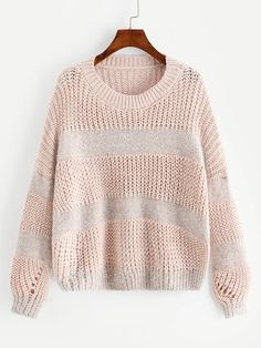 Shop Plus Drop Shoulder Open-Knit Jumper online. SHEIN offers Plus Drop Shoulder Open-Knit Jumper & more to fit your fashionable needs. Plus Size Jumpers, Plus Size Sweaters, Casual Sweaters, Cardigans, Sweater And Shorts, Jumper Dress, Young Models, Sleeve Styles, Cute Dresses