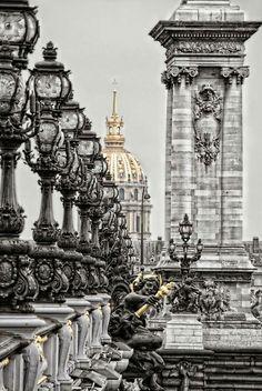 PONT ALEXANDER THE THIRD bridge Paris.