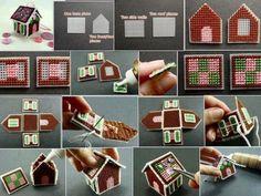 Petite maisons en canevas plastique:                              …