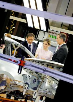 King Felipe and Queen Letizia visit the Volkswagen Factory in Navarra on the occasion of its 50th anniversary. Pamplona, 29.06.2016.