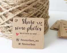 Small Business Mini Tags - Customised Thank You Tags - Gift Tags - Etsy Shop - Business Stationery - Product Packaging Business Thank You Cards, Thank You Tags, Craft Business, Business Card Design, Envelopes, Thank You Card Design, Photo Deco, Bussiness Card, Mugs