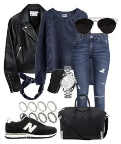 """""""#494"""" by stylishtwinsst ❤ liked on Polyvore featuring ASOS, MTWTFSS Weekday, H&M, New Balance, Givenchy, Michael Kors and Retrò"""