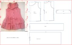 How to make different type of frock - Crazzy Craft Frock Patterns, Baby Girl Dress Patterns, Dress Sewing Patterns, Clothing Patterns, Little Girl Fashion, Little Girl Dresses, Kids Fashion, Girls Dresses, Dress Anak