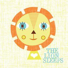 the lion sleeps