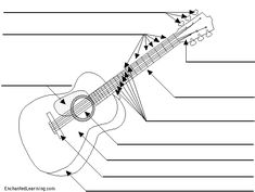 Label the guitar. A handy worksheet to have!!  ♫