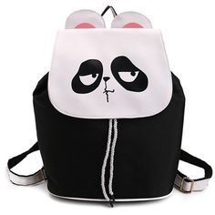 Drawstring Cartoon Funny Backpack (€12) ❤ liked on Polyvore featuring bags, backpacks, drawstring knapsack, drawstring bag, daypack bag, cartoon character backpacks and drawstring rucksack