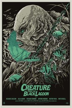 """Ken Taylor - """"Creature from the Black Lagoon"""" A/P Variant - 2012"""