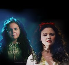 Bailee Madison and Ginnifer Goodwin as Snow White Once Upon A Time, Snow And Charming, Prince Charming, Ouat Cast, Bailee Madison, Mary Margaret, Between Two Worlds, Ginnifer Goodwin, Child Actors