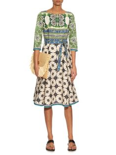Le Sirenuse, Positano Betty Postiano-print cotton dress