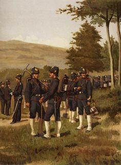 Justus Pieter de Veer - Genietroepen Oost Indisch Leger Marsch en Klein tenue (1896)