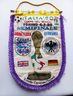 England v Germany 1990 Pennat by LFCcollectables on Etsy