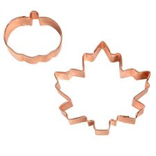 Wilton 23085011 Maple Leaf and Pumpkin Copper Plated Cookie Cutter *** Read more at the image link. (This is an affiliate link) Wilton Cake Decorating, Cake Decorating Tools, Decorating Ideas, Baking Supplies, Baking Tools, Baking Supply Store, Baking Basics, Fall Cookies, Wilton Cakes